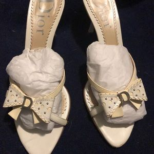 Beautiful ivory and white Dior sandals